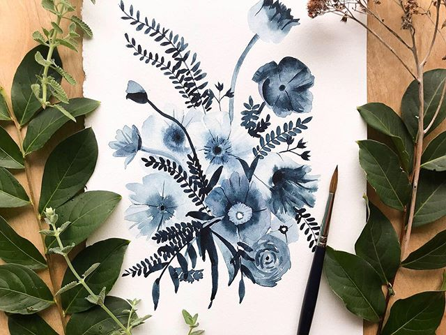 We've got 5 *NEW* workshops coming for our Hot Springs retreat. This time @mayweflydesign will be instructing a watercolor session on indigo botanicals. 💙 We hope you can join us! . September 6-8 | Hot Springs, AR ✨ 5 workshops ✨ beautiful accommodations ✨ opt-in biz panel ✨ 15 new friends! . Save your seat at www.creativesocialretreat.com! We (@gingiber, @begoodnatured, @tramcolwinart, @amberperrodin, and @mayweflydesign) can't WAIT to meet you!! 💙