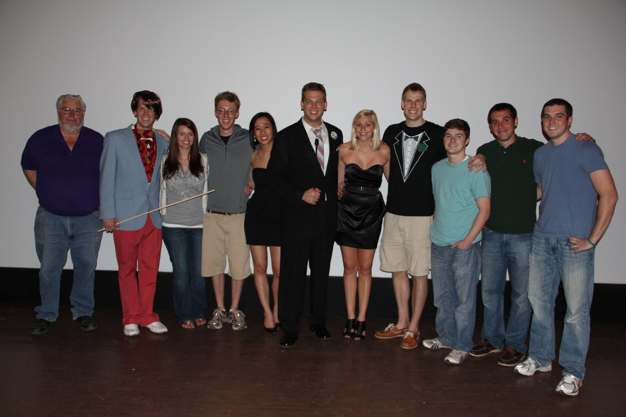 The original staff of The Harbor Beach Gameshow Series on May 21, 2011