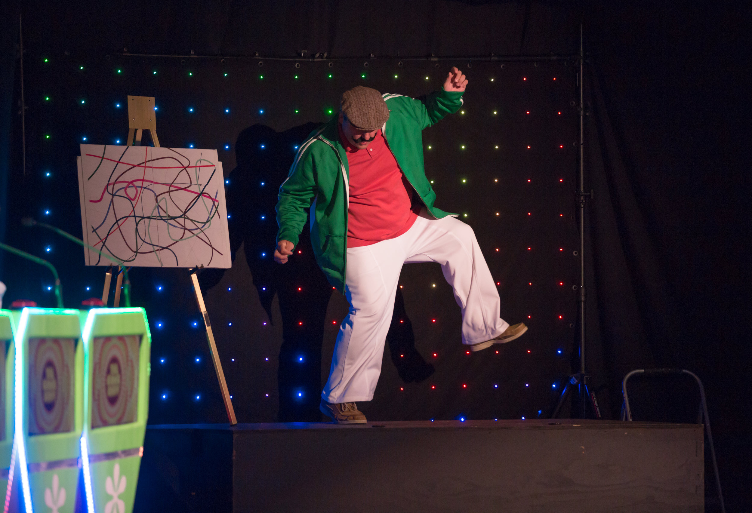 Robert Behnke is the show's dancing machine, busting his moves since 2016.