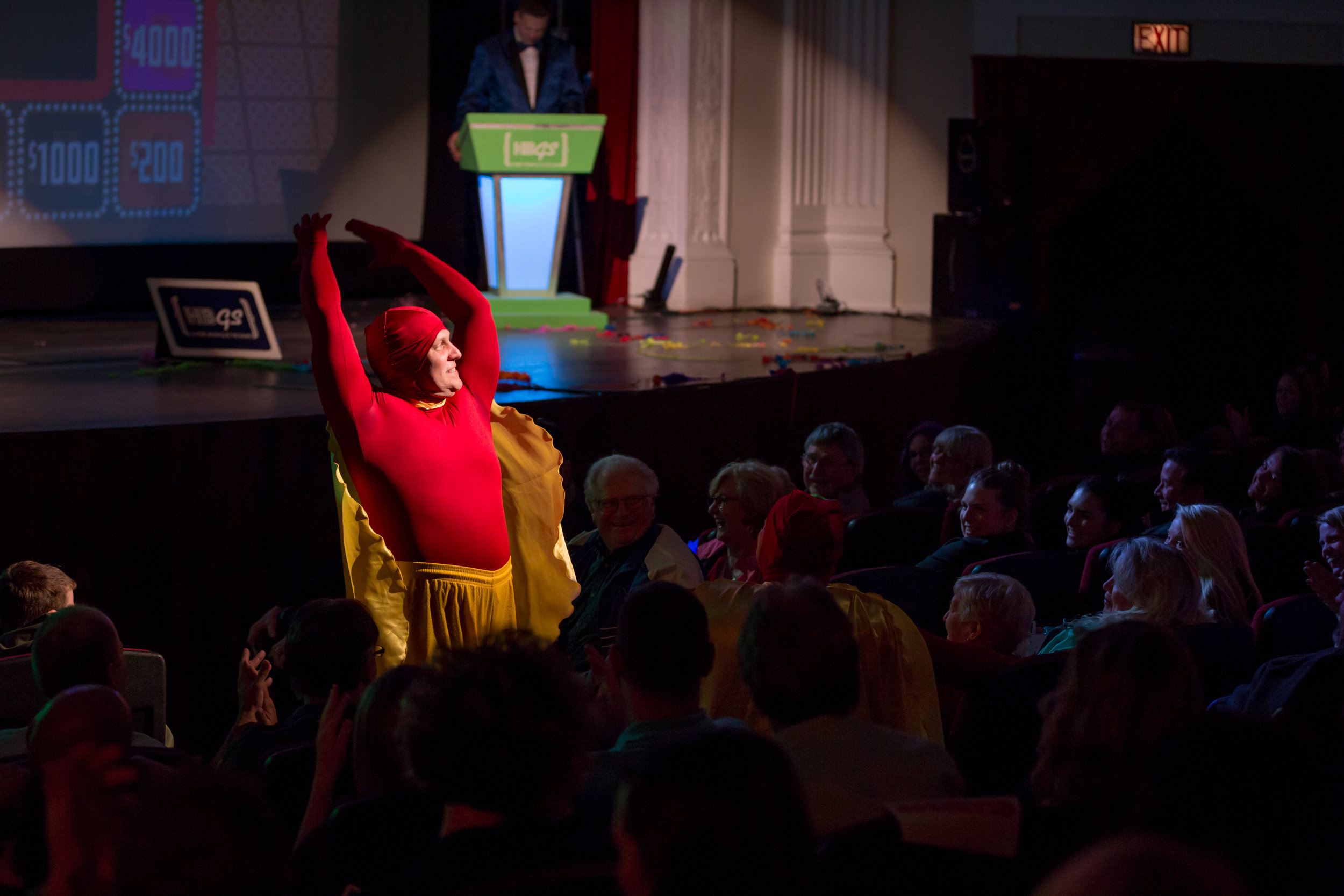 Ed Klump, Whammy #2, entertains the crowd during the show.