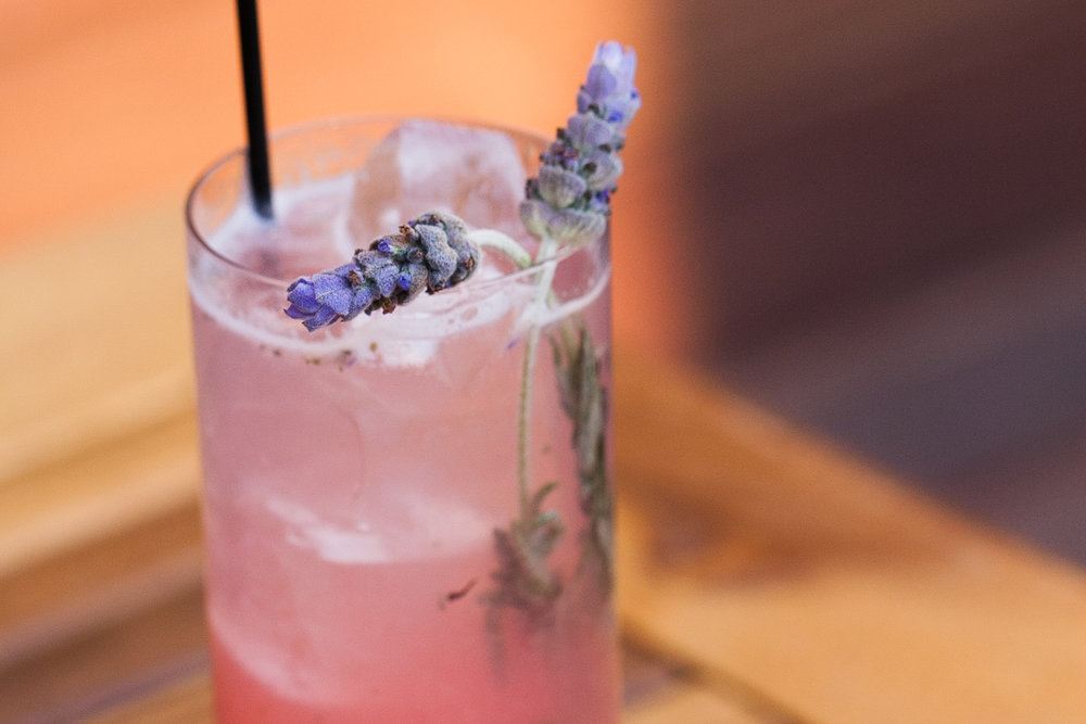 """From Tanta, #2 in cocktails in Chicago: """"Floral and slightly effervescent, La Guapa mixes locally distilled CH lavender-infused gin with lemon, rhubarb and sparkling rose for a light, food-friendly spring cocktail."""" Source: Tanta."""