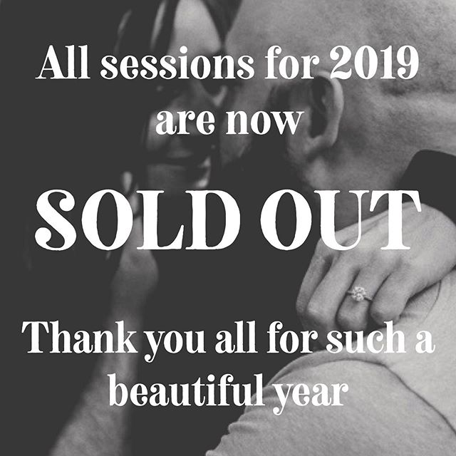 Wow! I can't believe how fast the remainder of the year has already filled up! Thank you all so much for your business and letting me share in some memory making for you!