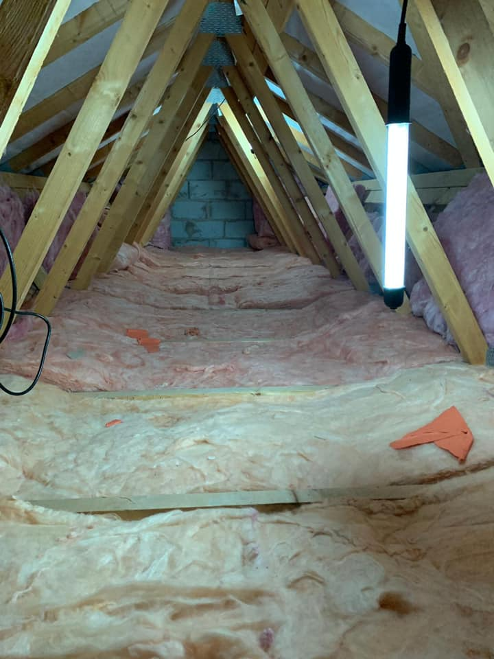 after insulating a loft.