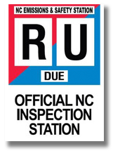 We are an official licensed State Inspection Station of North Carolina.