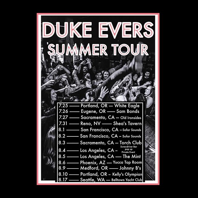 🚧UPDATED TOUR SCHEDULE!!!🚧 SEE YOU OUT THERE AMERICA! #dukeevers #dreamsanddesiresthatarecommontoyouth #americanband #touringbands #ontheroadagain #musicians #couchsurfing #beefjerky #roadsodas #music #lovingeveryminuteofit