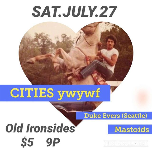 TONIGHT!!!! @oldironsidesbar  @citiesyouwishyouwerefrom @mastoids916 #dukeevers #sacramento #dreamsanddesiresthatarecommontoyouth #touringbands #oldironsidessacramento