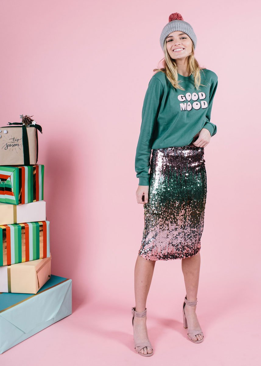Sequin Skirt - 20% off with code ITSLIT