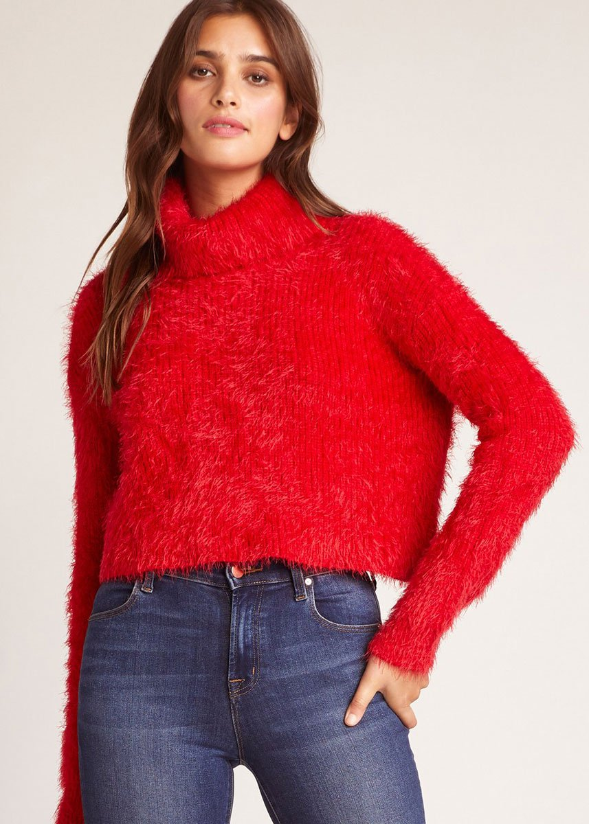 Red Fuzzy Sweater - 20% OFF WITH CODE: ITSLIT