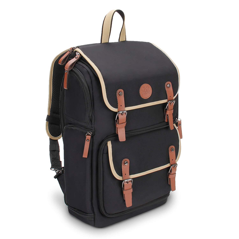 GOgroove Full-Size DSLR Camera Backpack Case -