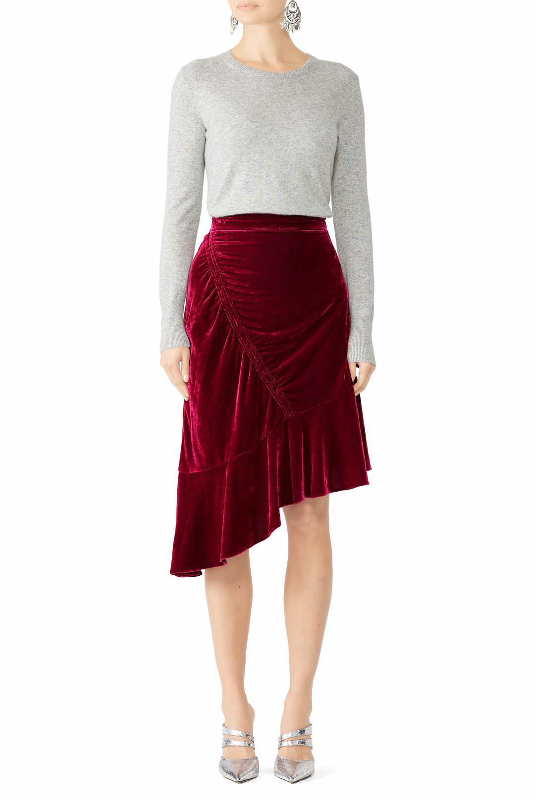 Parker Astrid Velvet Skirt - I LOVEEEEE this skirt. It's comfortable and high waisted. Great for eating a lot lol.