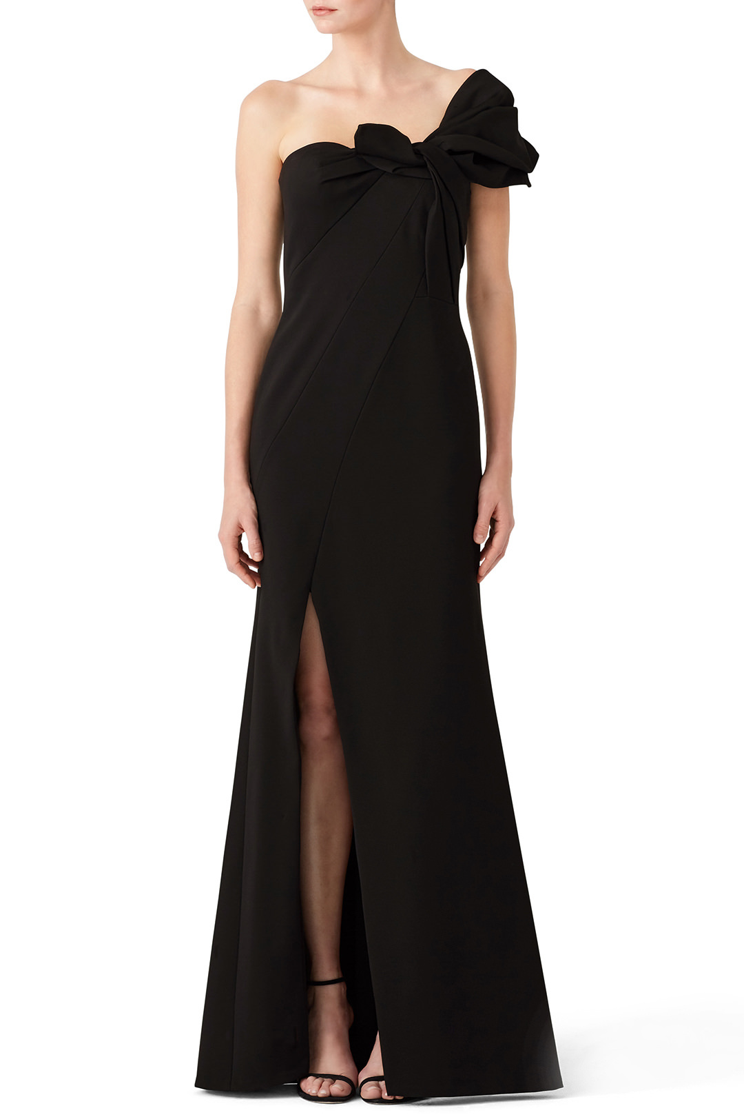 Aiden Mattox Black Bow Crepe Gown - This is the stunning black gown we all hope to wear.