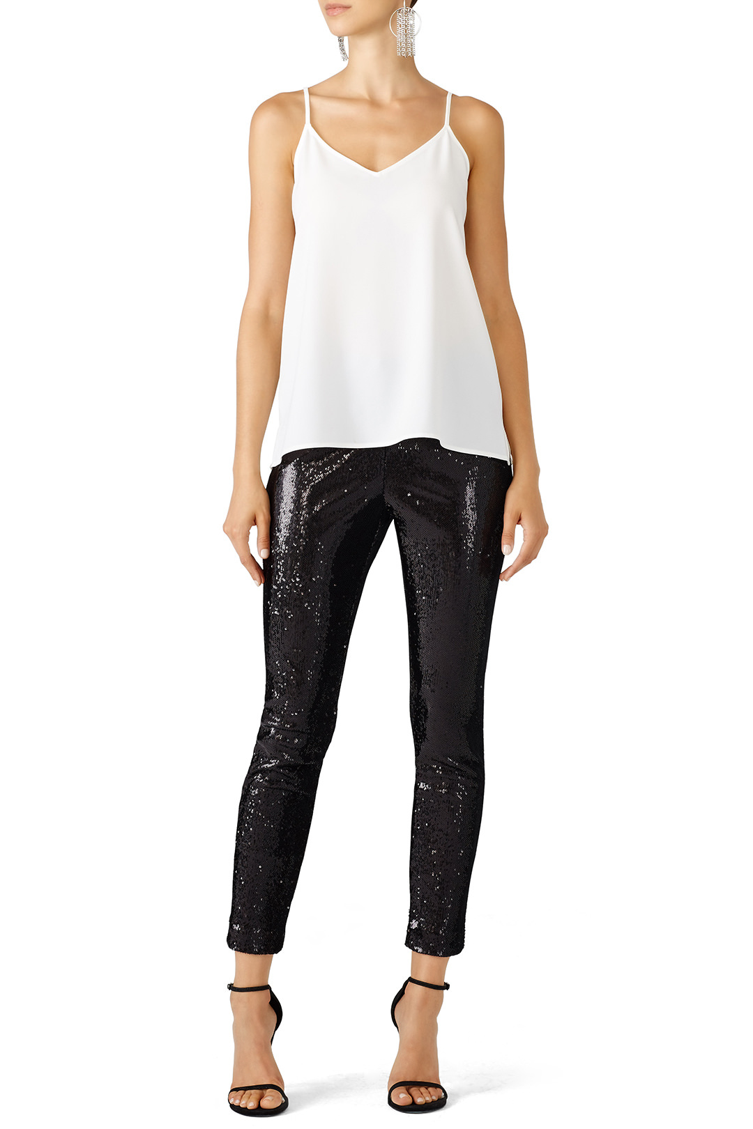 Cupcakes and Cashmere Black Sparkle Leggings - These look fun! And LOOK! SPARKLES!!!