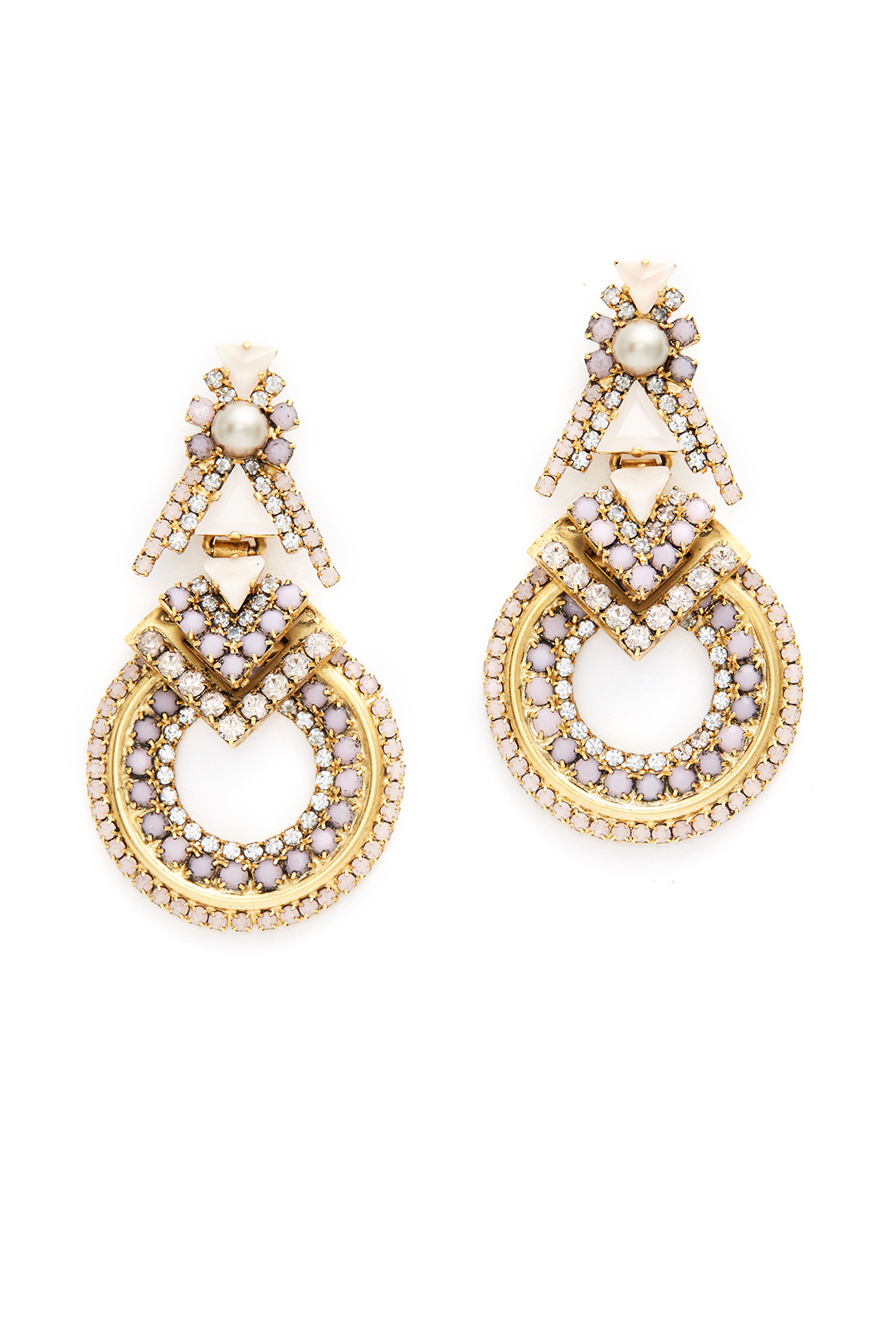 Elizabeth Cole Blush Pave Stone Hoop Earrings - These are quite a statement. But I loved them when I rented them.