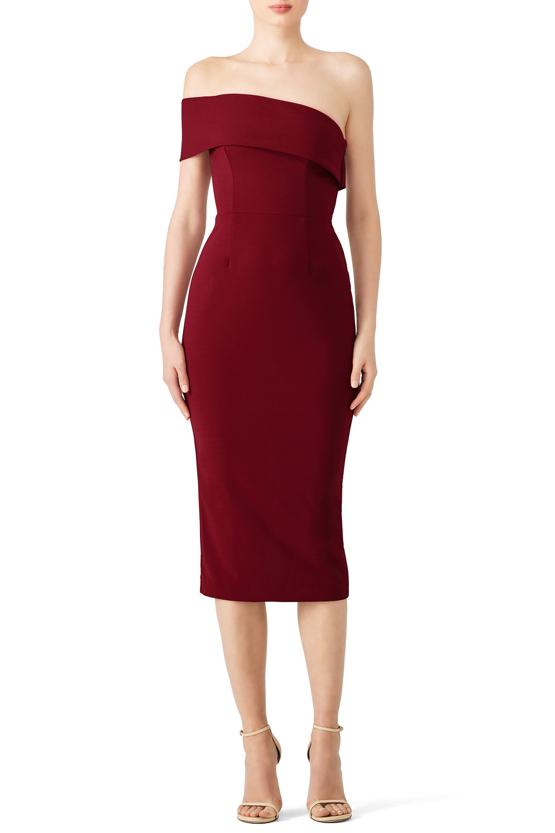 Katie May Bordeaux Apollo Dress - Show a little leg why don't ya?