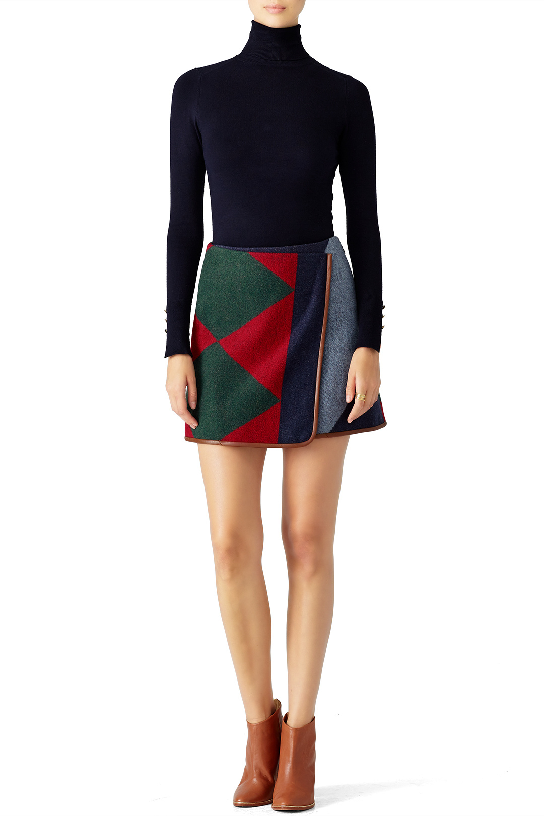 Tory Burch Cheval Patchwork Skirt - Pair with tights and a turtleneck and you're good to go girl!
