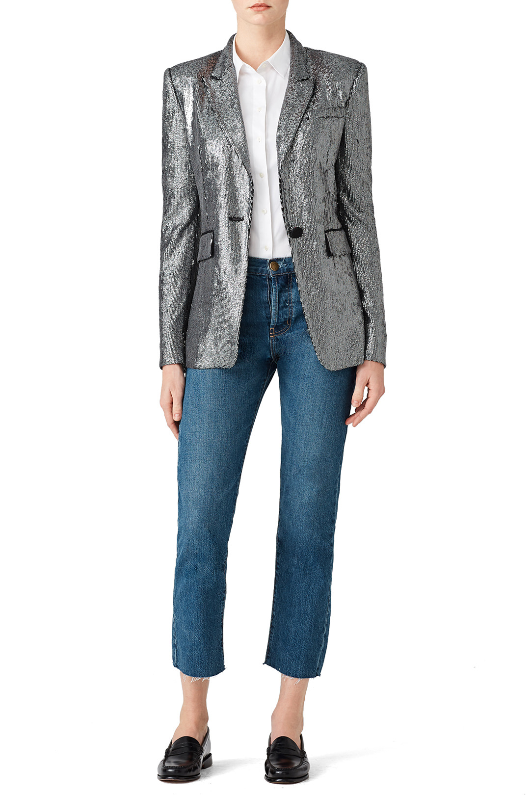 Rachel Zoe Pewter Rixey Blazer - Oh… you wouldn't wear a sequin blazer to Gma's house? Weird…