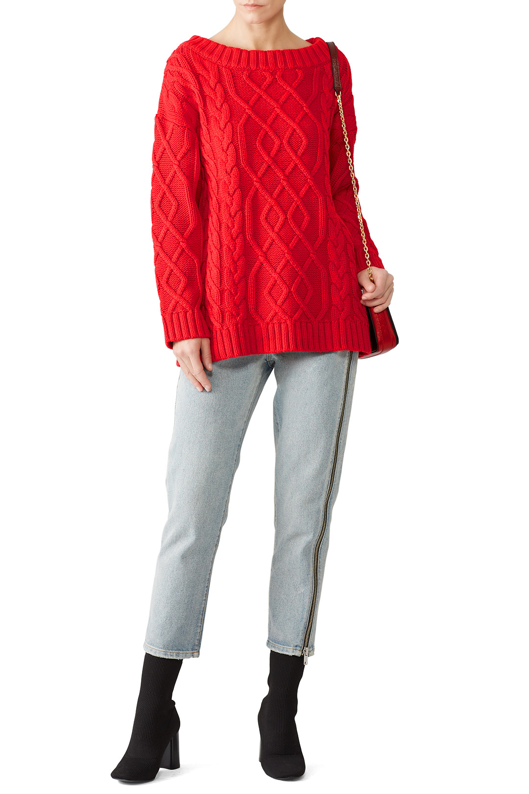 The Jetset Diaries Red Ember Sweater - This looks cozy and I think I want to rent it soon!
