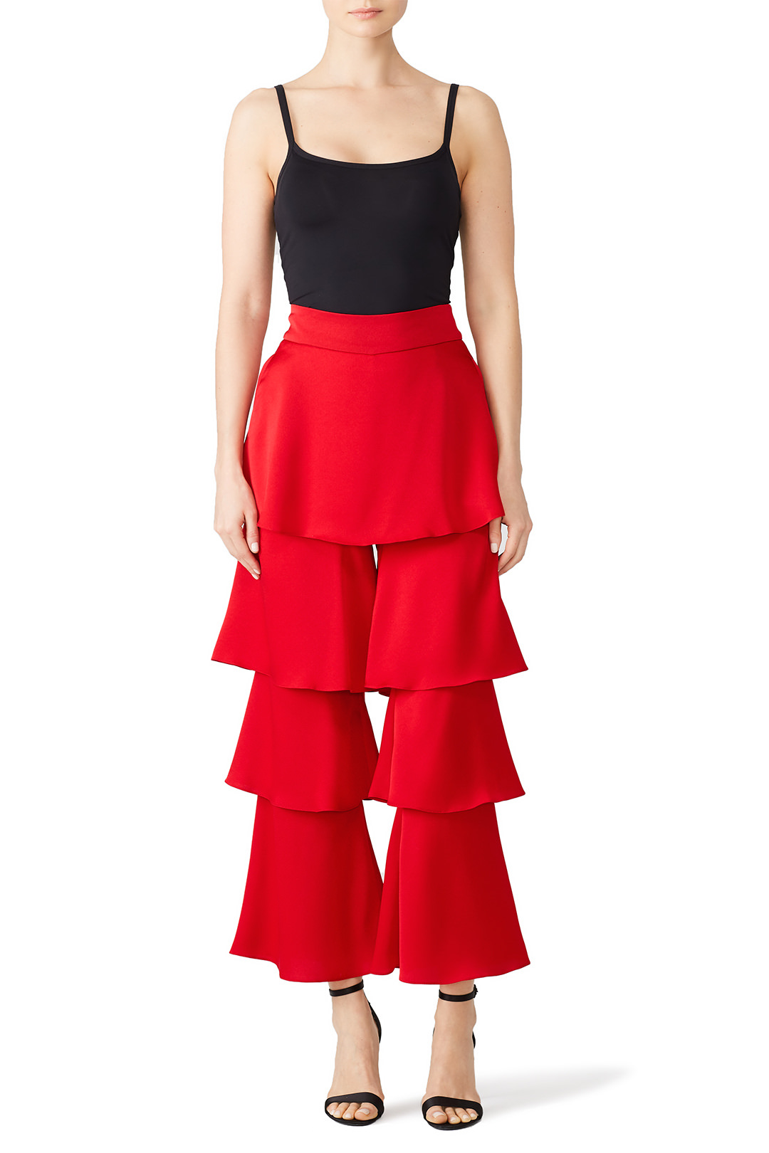 Osman Red Felix Ruffle Trousers - I just rented these for an Ugly Christmas sweater party. I figured I'd really take the outfit over the top…