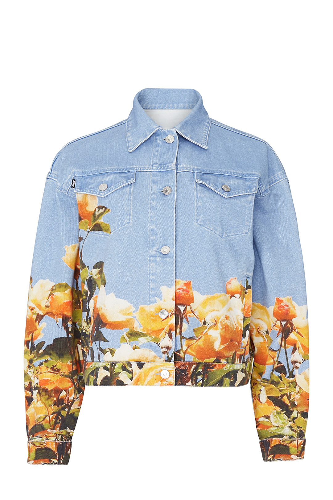 MSGM Blue Floral Denim Jacket - Dis cool. Plus the retail price is $915…so if spending nearly a grand on a statement jacket isn't really in the budget, RENT IT!