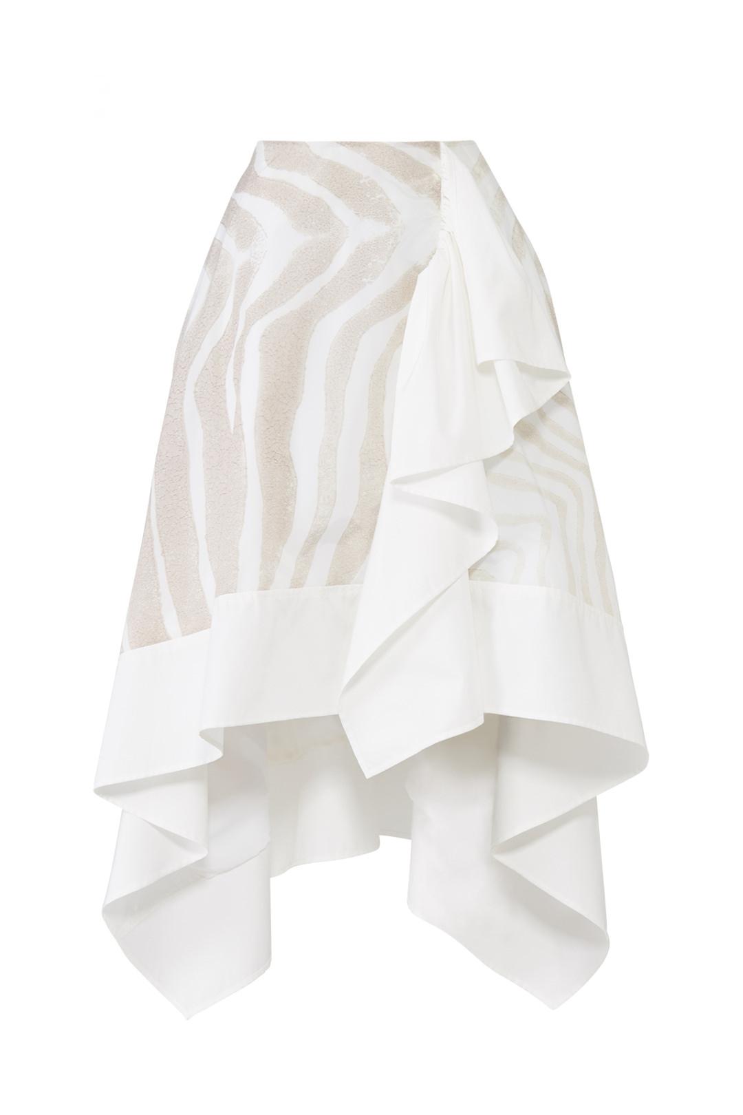 ADEAM Asymmetrical Ruffle Skirt - Idk this just looks really chic lol