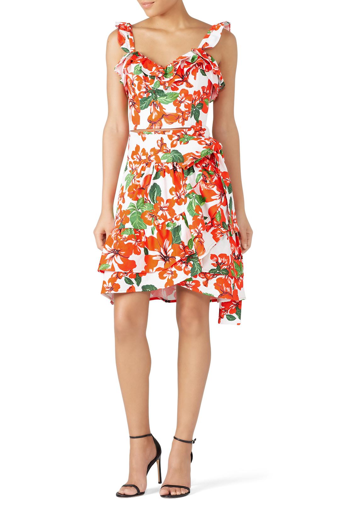 Marissa Webb Milos Print Wrap Skirt & top - Love me a matching set. Make sure you snag the top as well.