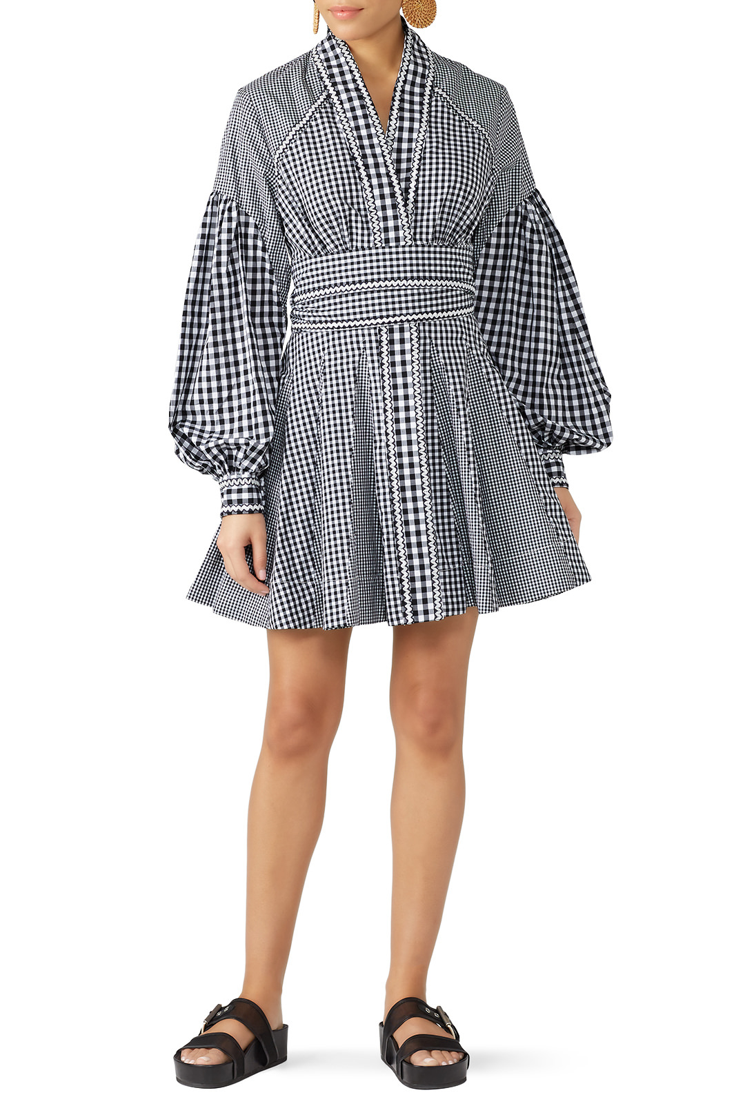 Acler Lella Dress - Gingham is back AGAIN and this dress is a fun take on a print that sometimes reminds you of picnic tablecloths.