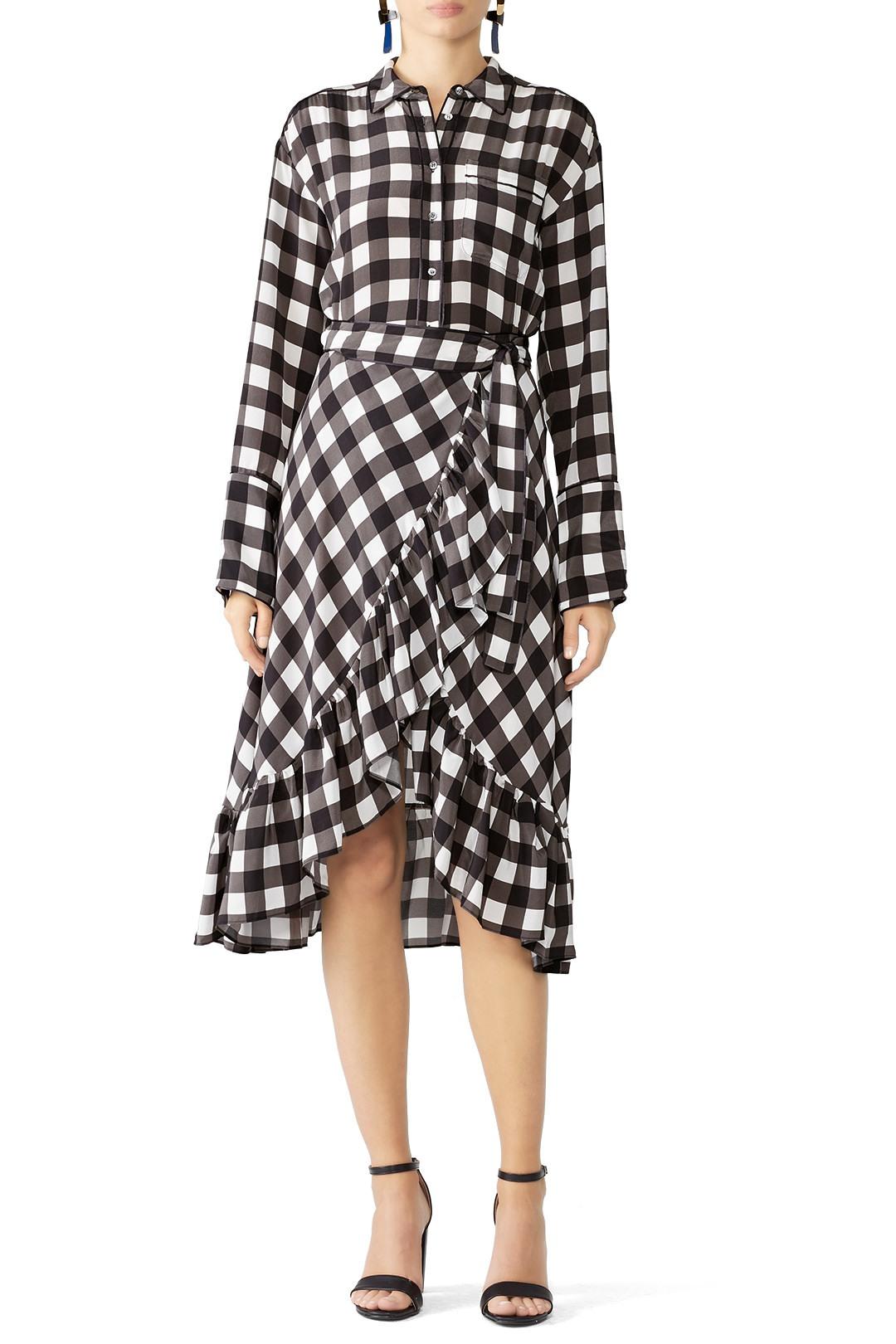 Marissa Webb Plaid Scarlet Print Dress - Idk I just like dis