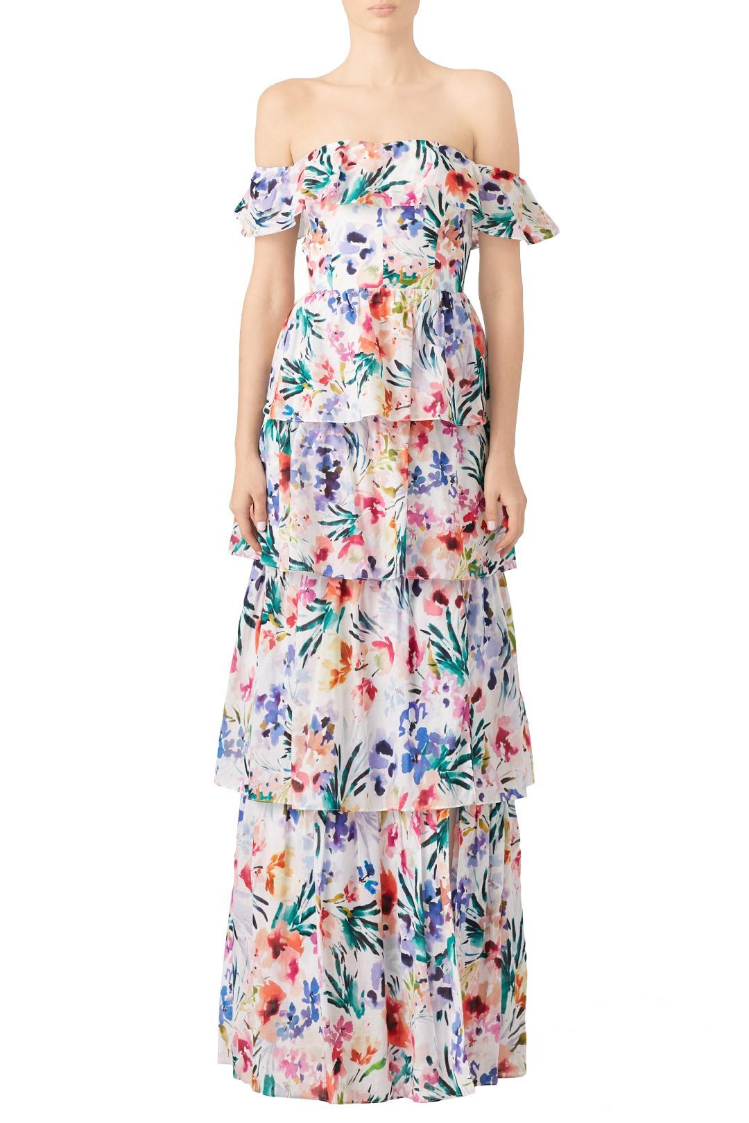 Amanda Uprichard Floral Venezia Gown - Love me an off the shoulder floral dress