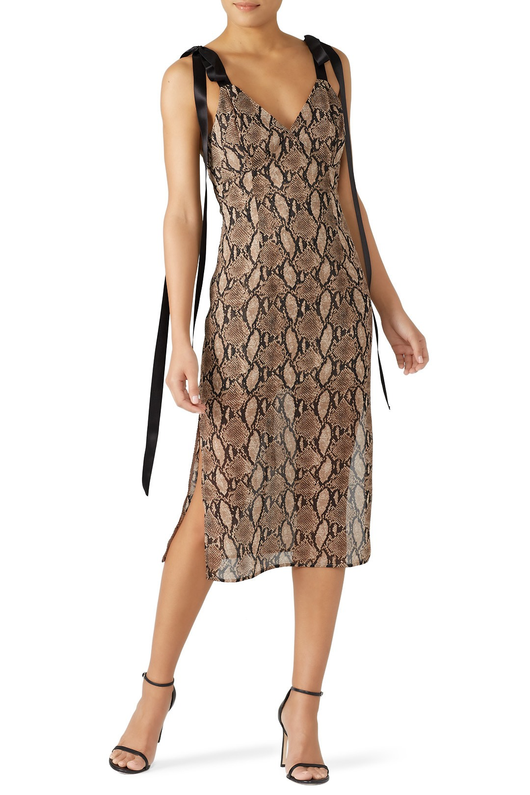 Goen. J Vegas Python Printed Dress - Dis is kewl and it's def a dress to wear if you're looking to leave with someone, if ya know what I mean…wink wink lol.
