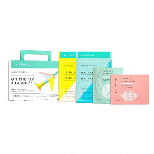 Patchology On The Fly Multi-Masking Travel Skincare Kit - This is my new favorite kit. I LOVE using the Patchology eye gels during and after flights to wake up my eyes. They're made with collagen, caffeine, hyaluronic acid and give me that kick in the pants I need. The kit also includes lip gels and 2 sheet masks all for $20