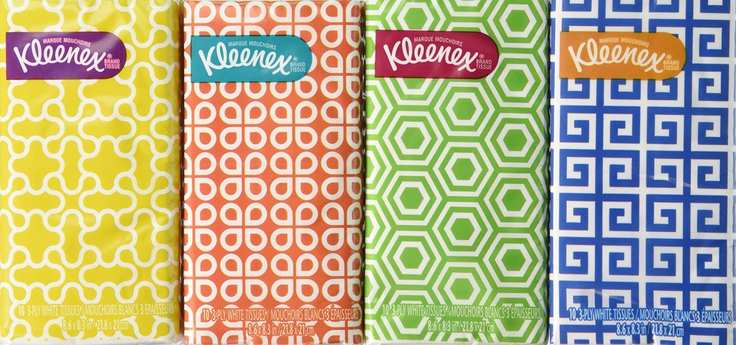 Kleenex Pocket Pack - I cannot tell you how many times these have saved me in countries where toilet paper in bathrooms is not always a given. It only takes having to drip dry once before you never forget your little mini Kleenex packets again…Plus they're good to have on hand to blot your sweat or ya know…blow your nose.$7.20 for pack of 16 (so you always stay stocked up lol)
