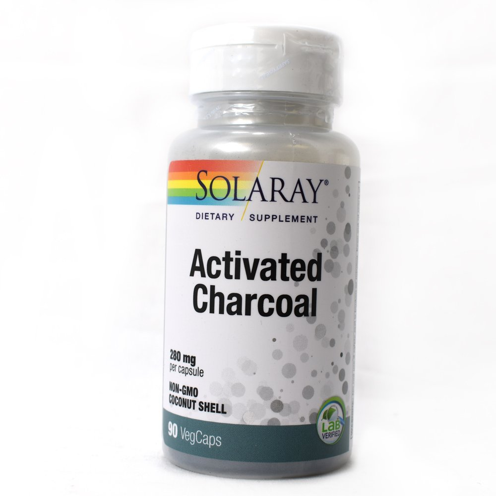 SOLARAY ACTIVATED CHARCOAL - Activated charcoal can chemically attach, or adsorb, to a variety of particles and gases, which makes it ideal for removing potentially toxic substances from the digestive tract.