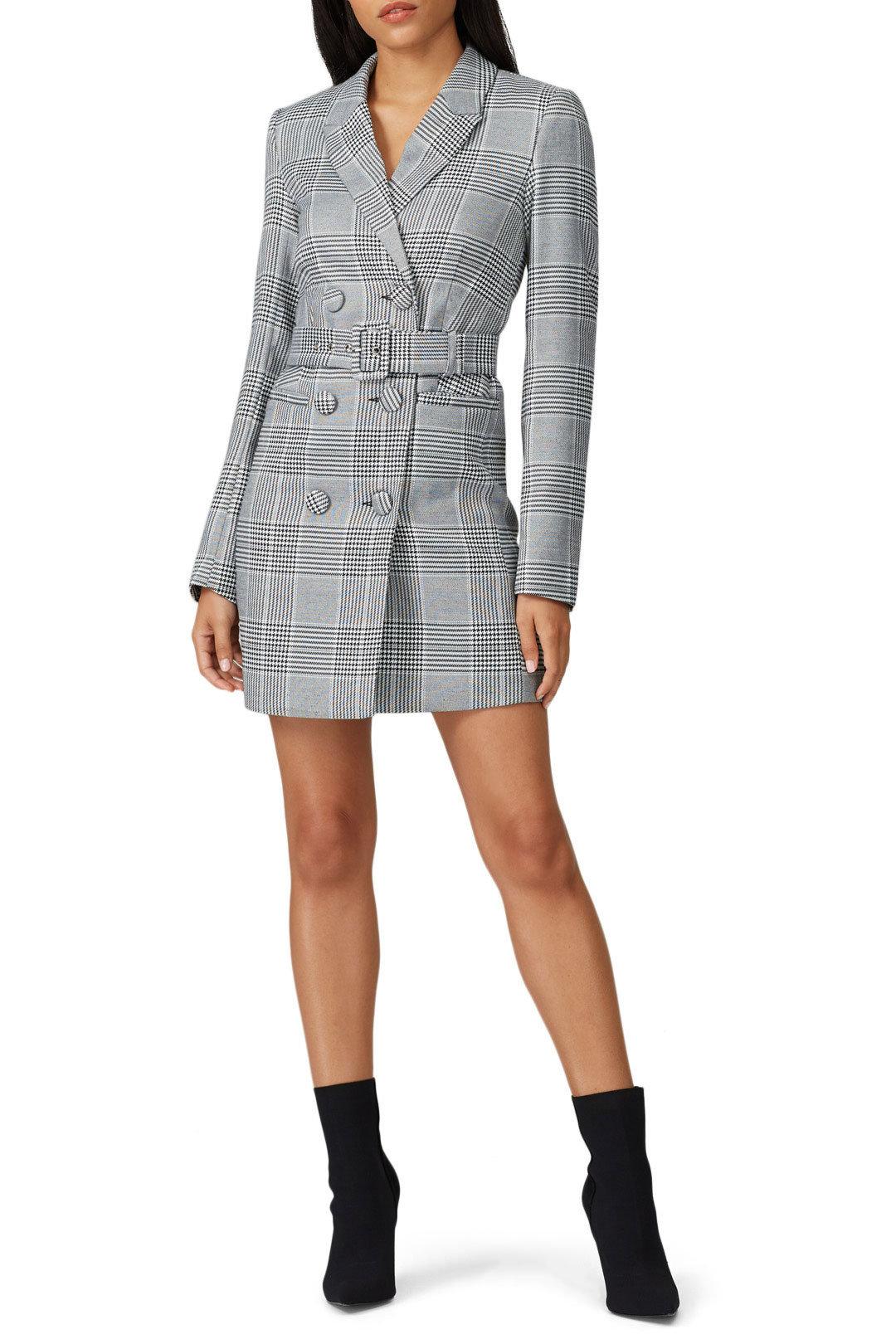 BARDOT - Plaid Blazer Dress