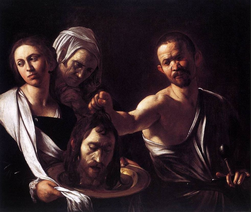 Salome with the Head of John the Baptist  (c. 1607) by Caravaggio