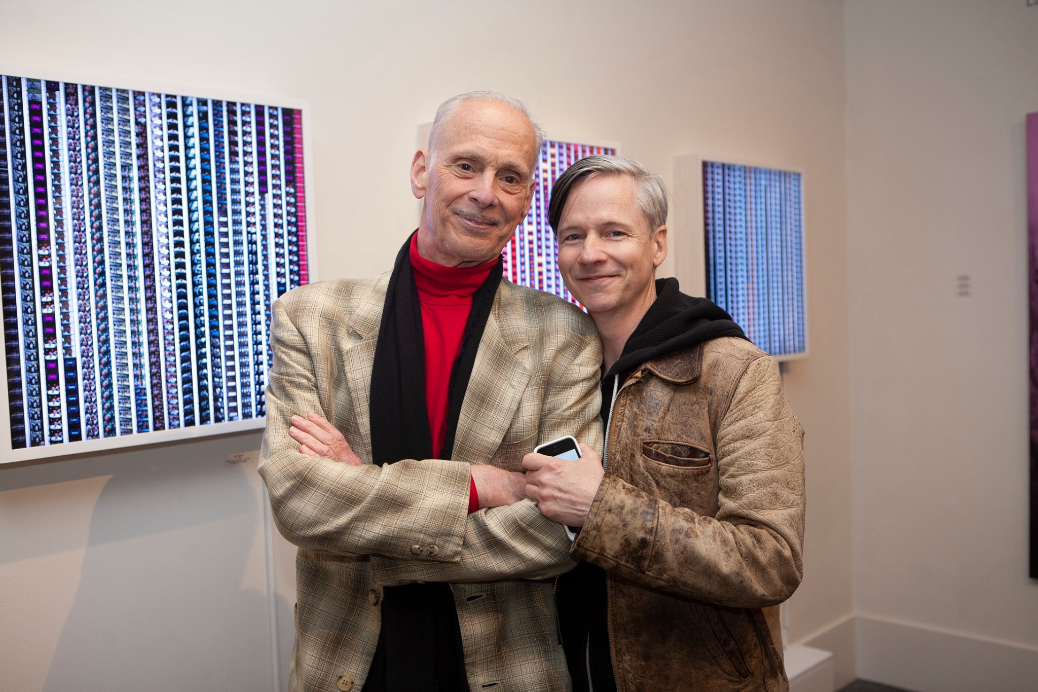 John Waters & Johncameronmitchell at the SCHOOLHOUSE GALLERY