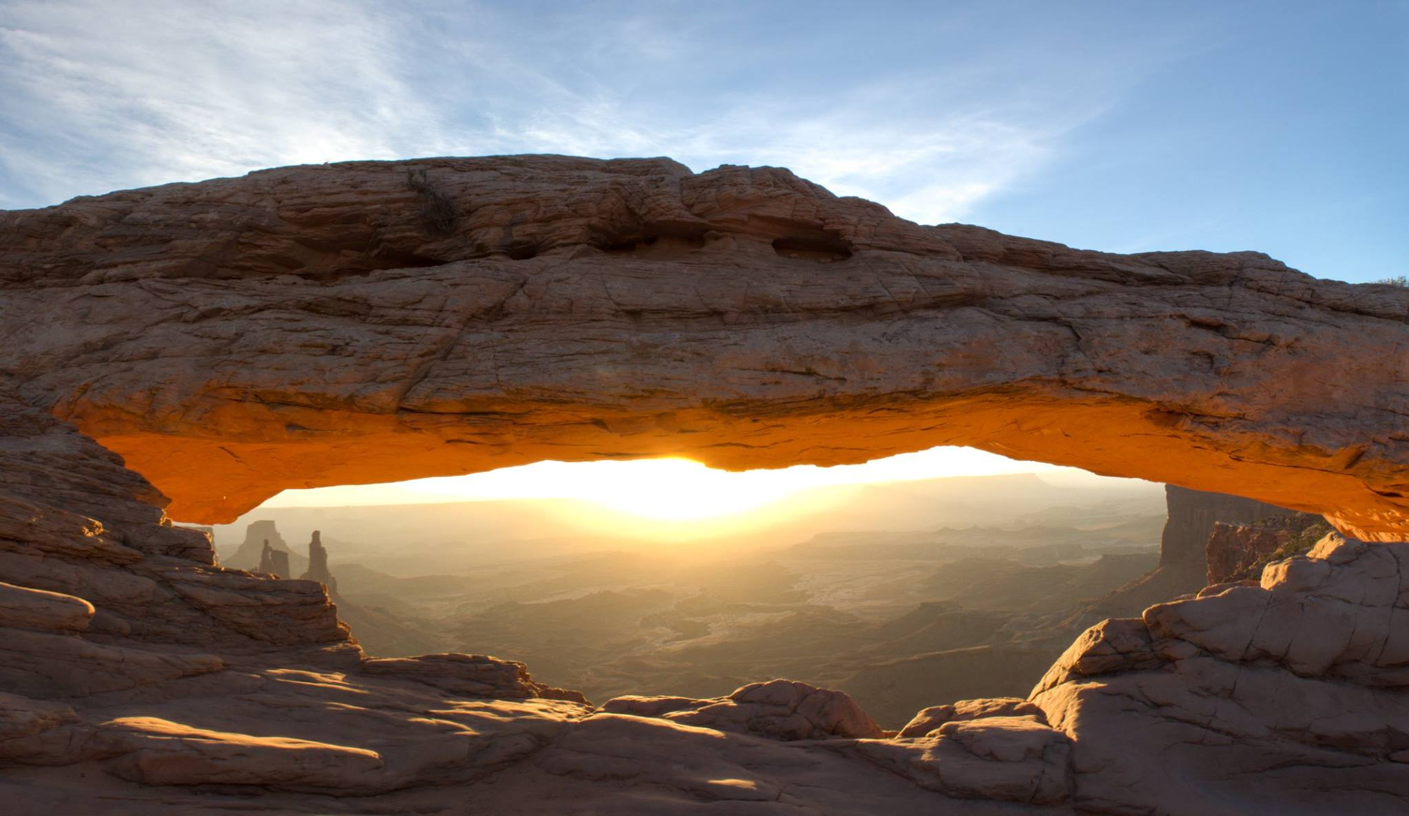 Sun setting at Canyonlands National Park
