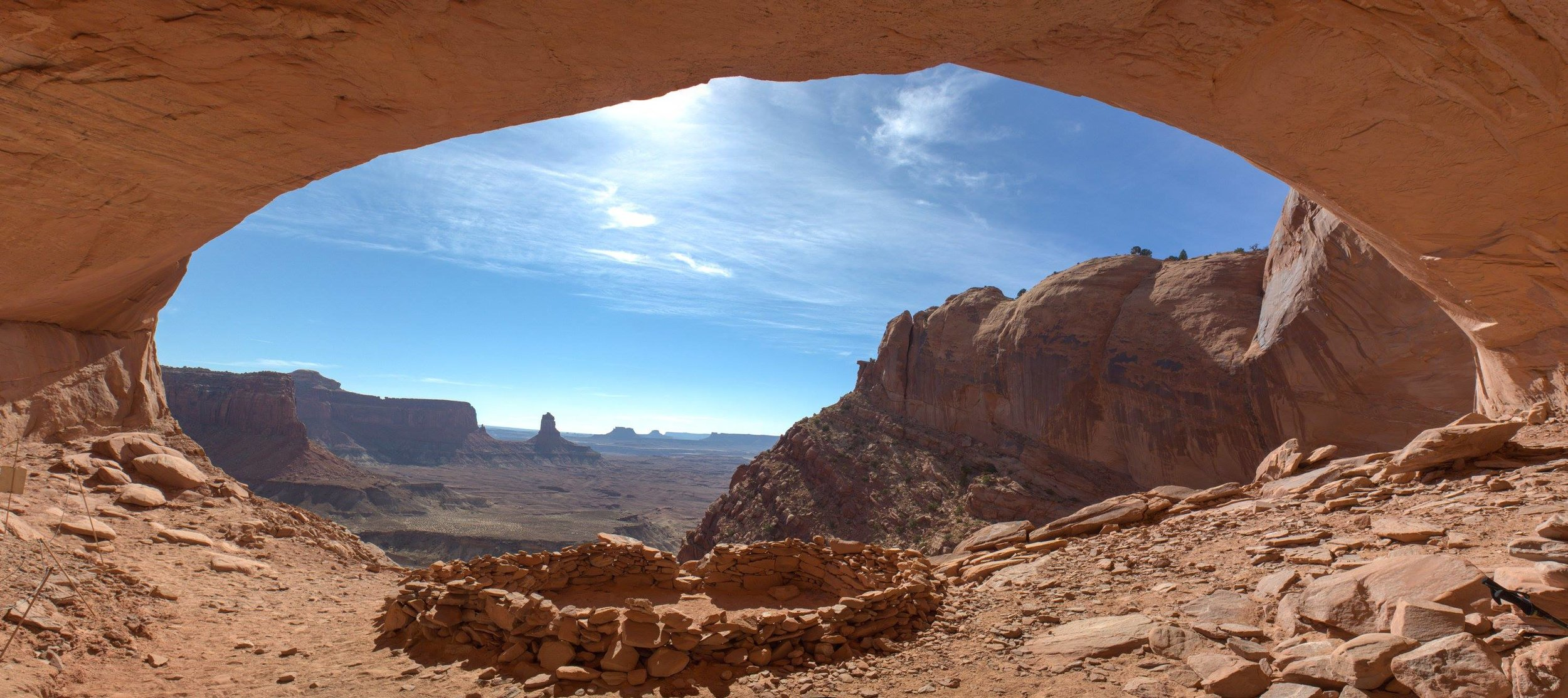 Canyonlands National Park arch with blue sky
