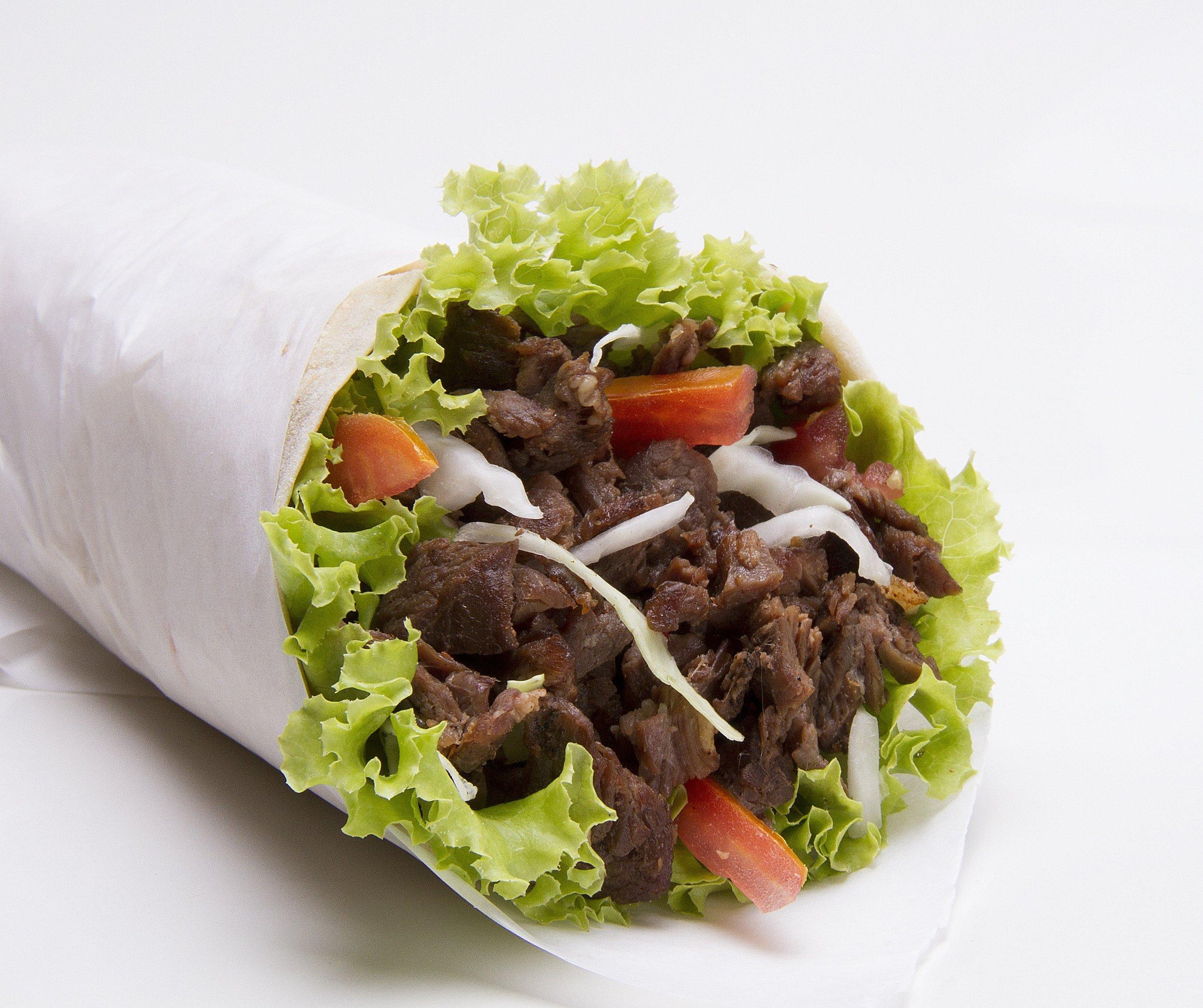keto beef lettuce wrap burrito