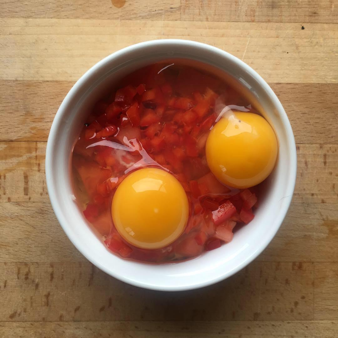Add 2 eggs