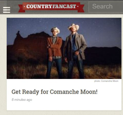 Country Fancast - Comanche Moon is Mark Erikson and Chandler Sidwell from Amarillo, Texas and they are super excited about their upcoming release Country Music Deathstar. We caught up with them to talk about the album and all the other things happening in their world!