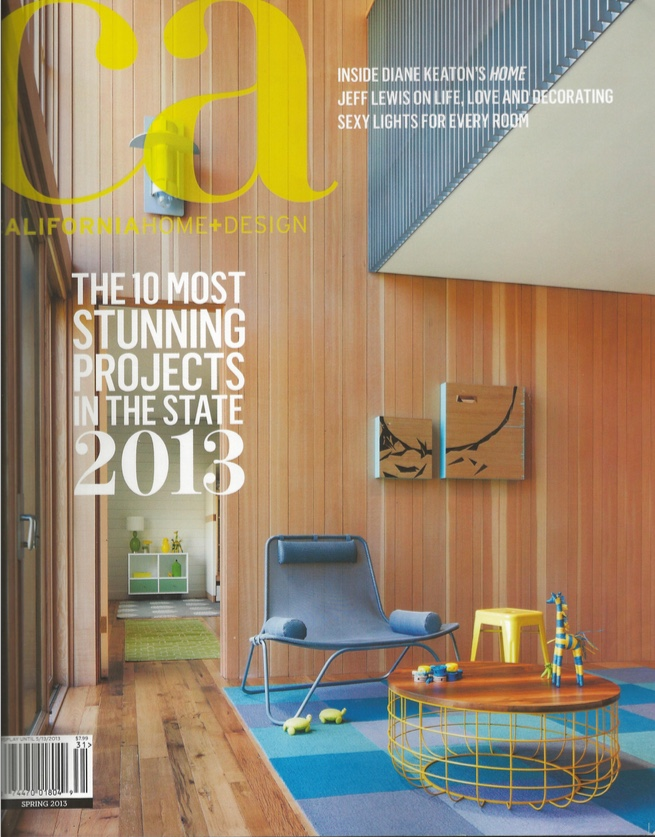 """This is an image of the CHD cover for which I styled this photo and others on this shoot. I really enjoyed making the color palette and clean lines of our interior design communicate effectively for print + publication. We ended up winning an award for this project: """"Best 3,000+ sq ft Residential ID"""". Really cool and quite an honor!"""