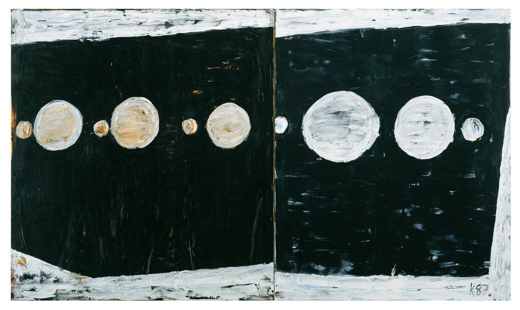 Grosser Zurbarán ,1987, Oil on canvas, 79h x 134w in (200h x 340w cm)