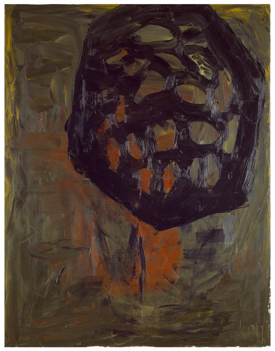 Der Waldblock 3 ,1990, Oil on canvas, 51h x 39w in (130h x 100w cm), Morat-Institute, Freiburg in Breisgau