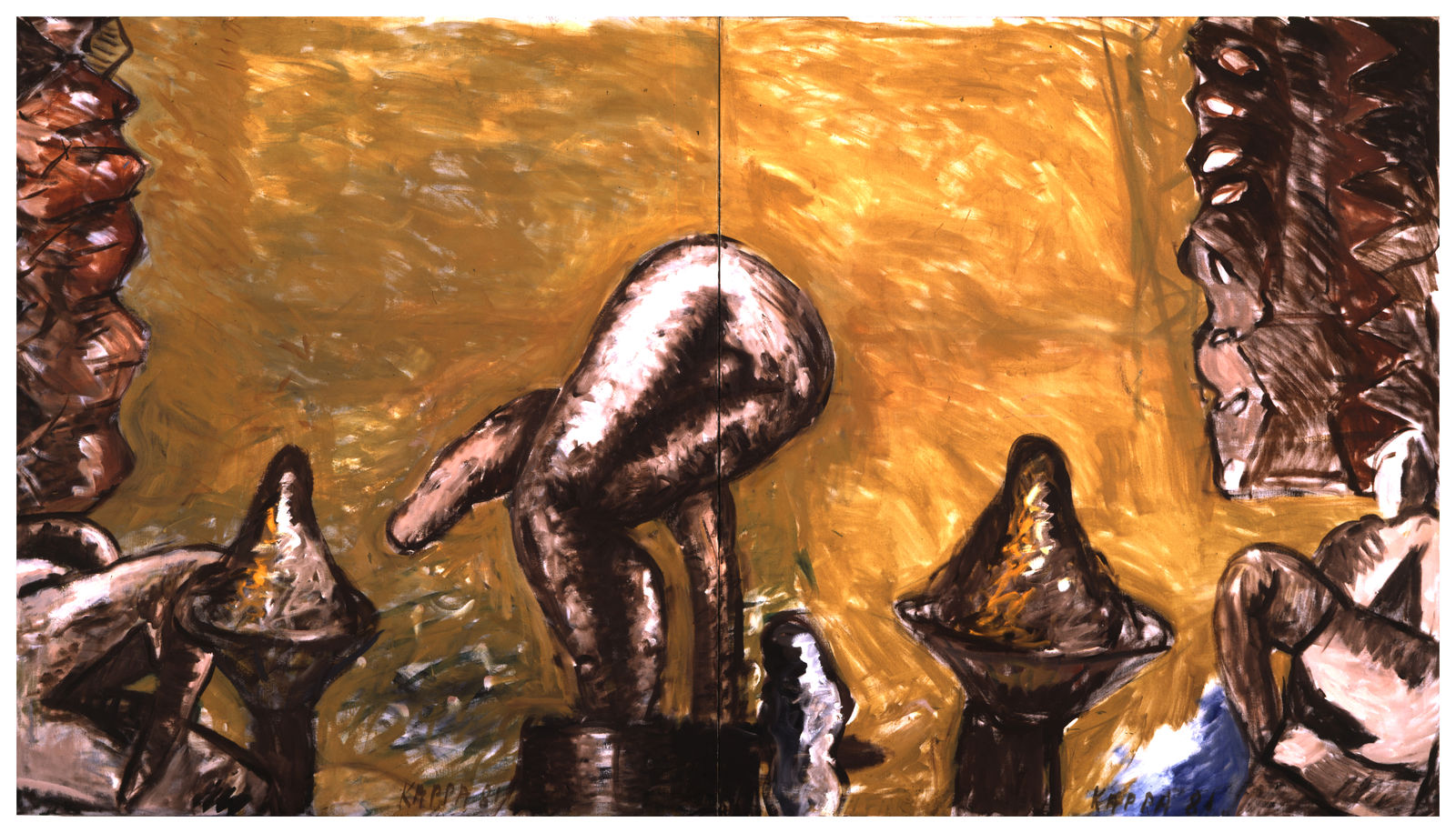 Klein Weihe , 1980, Oil on canvas, 49.21h x 53.14w in (125h x 135w cm), Private collection