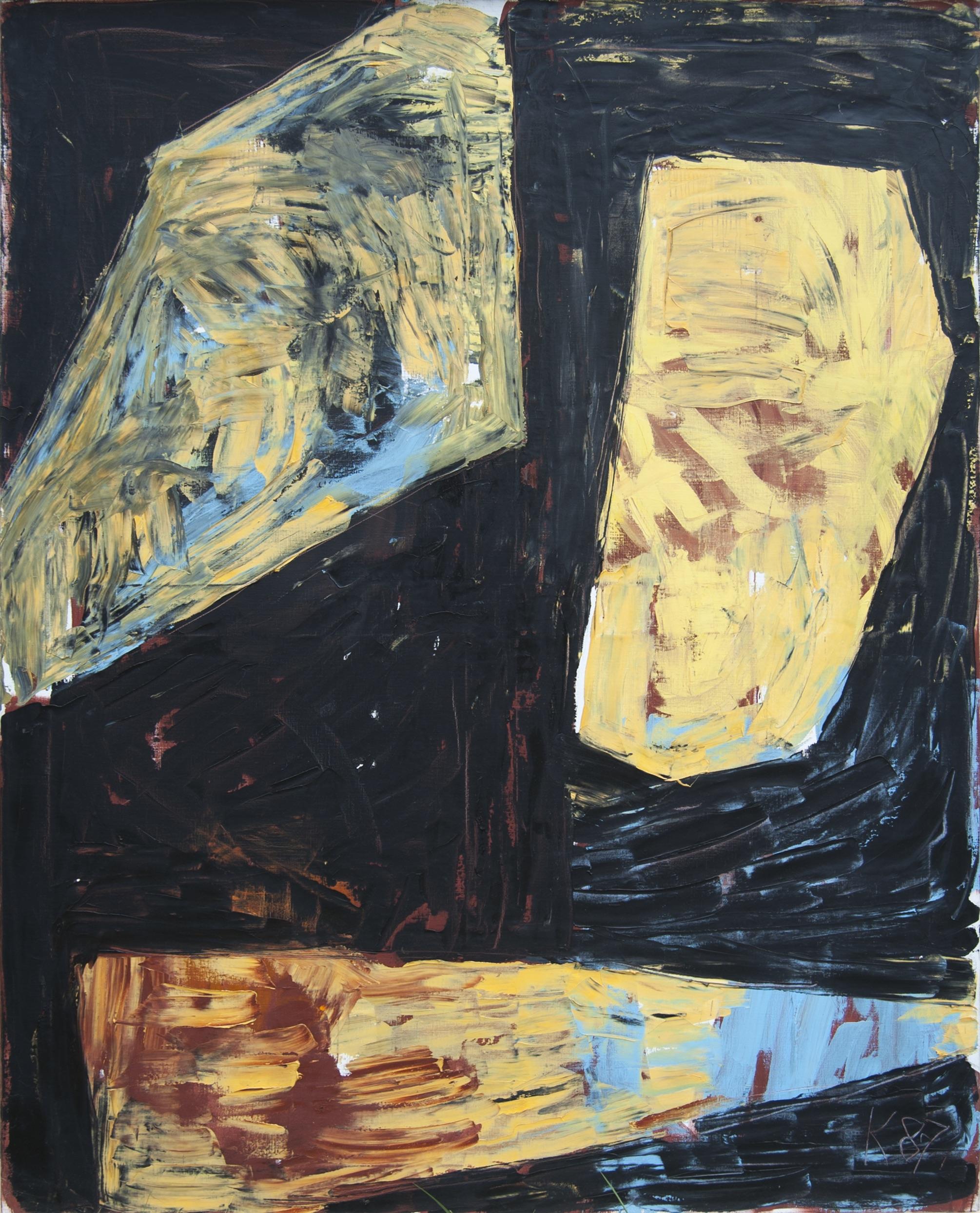 Ägyptische Reihe V , 1987, Oil on canvas, 78.74h x 62.99w in (200h x 160w cm)