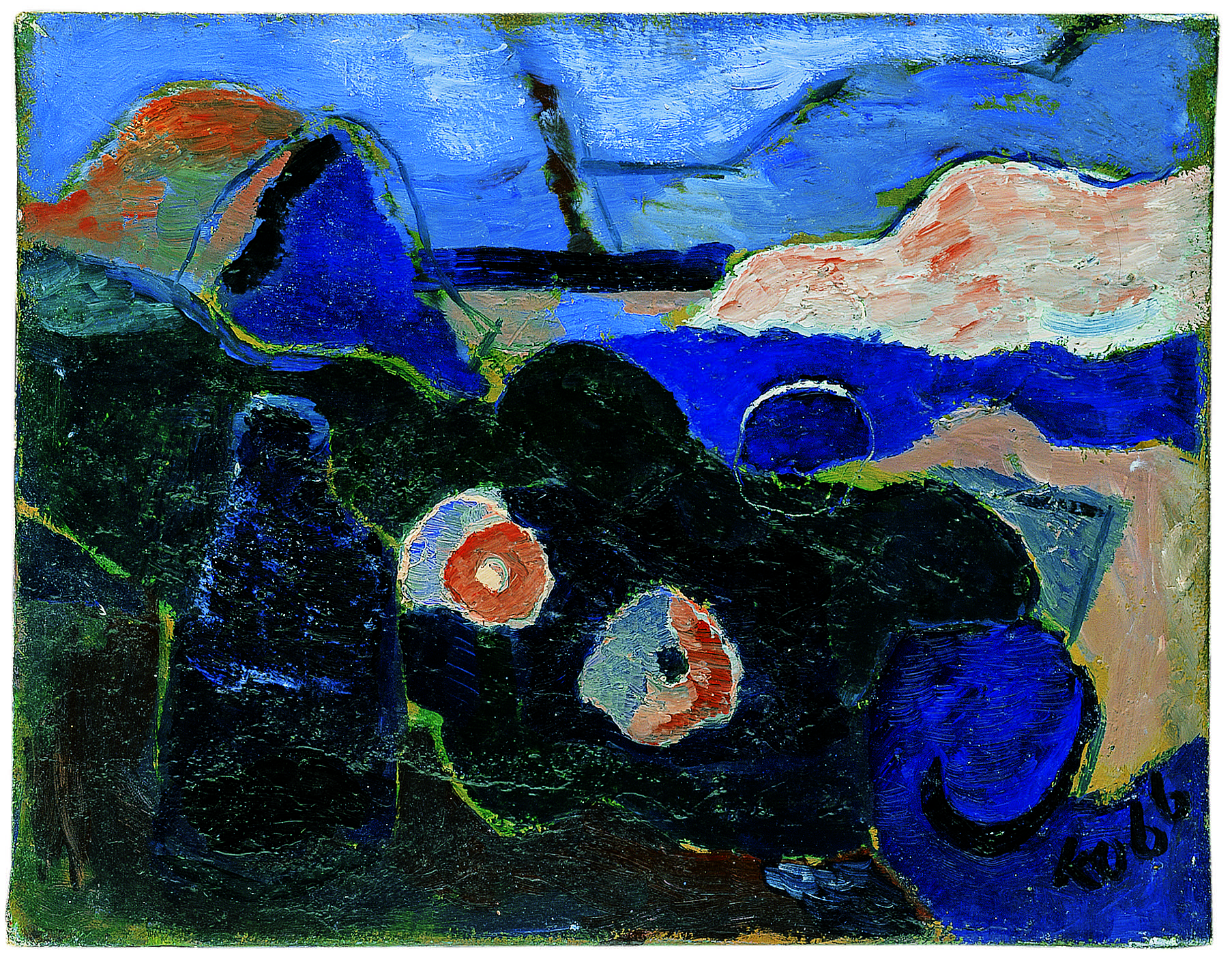 Untitled, 1966, Oil on canvas, 18.50h x 23.62w in (47h x 60w cm)