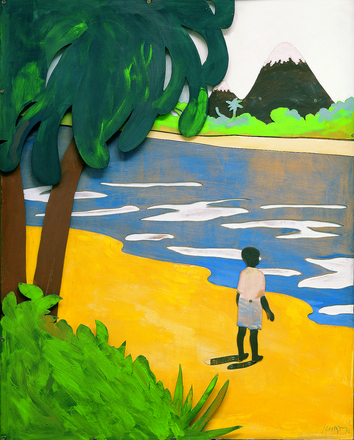 The Lagoon , 1970, Oil and acrylic on plywood, 59h x 47.24w in (150h x 120w cm), private collection