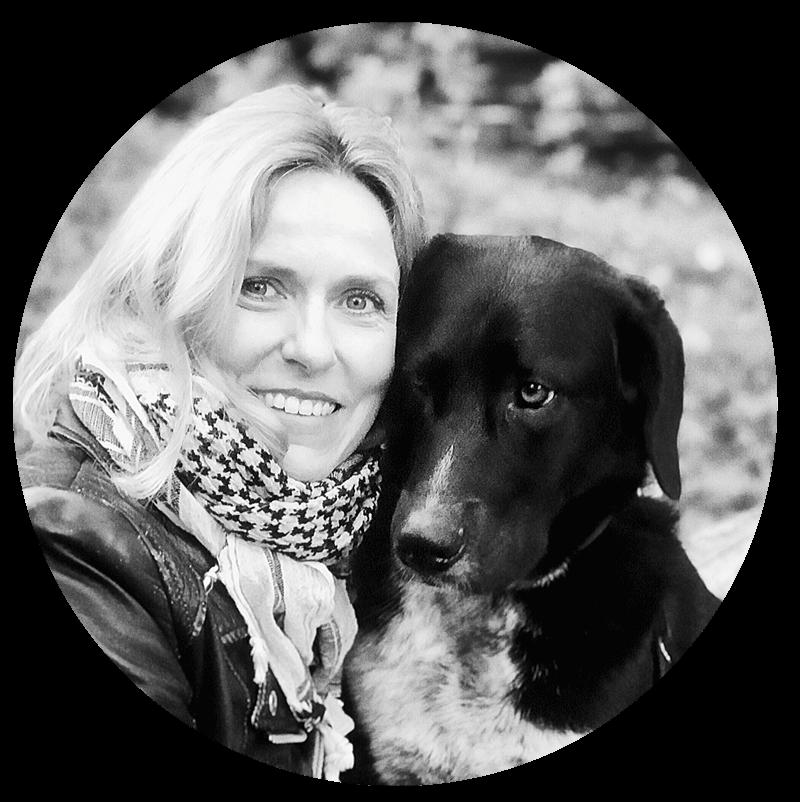 Gründerin - Petra Pütz-Elsässer mit ihrem Herzenshund Lennox