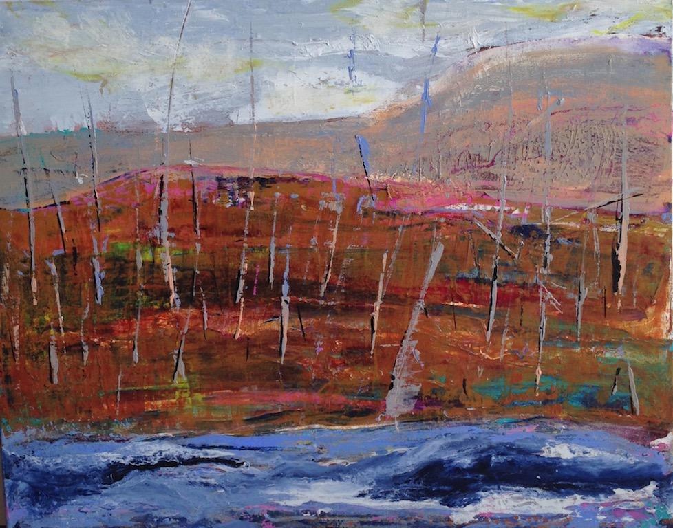 "A River Runs Through It Acrylic - 30""x24"" For Sale - $1500"