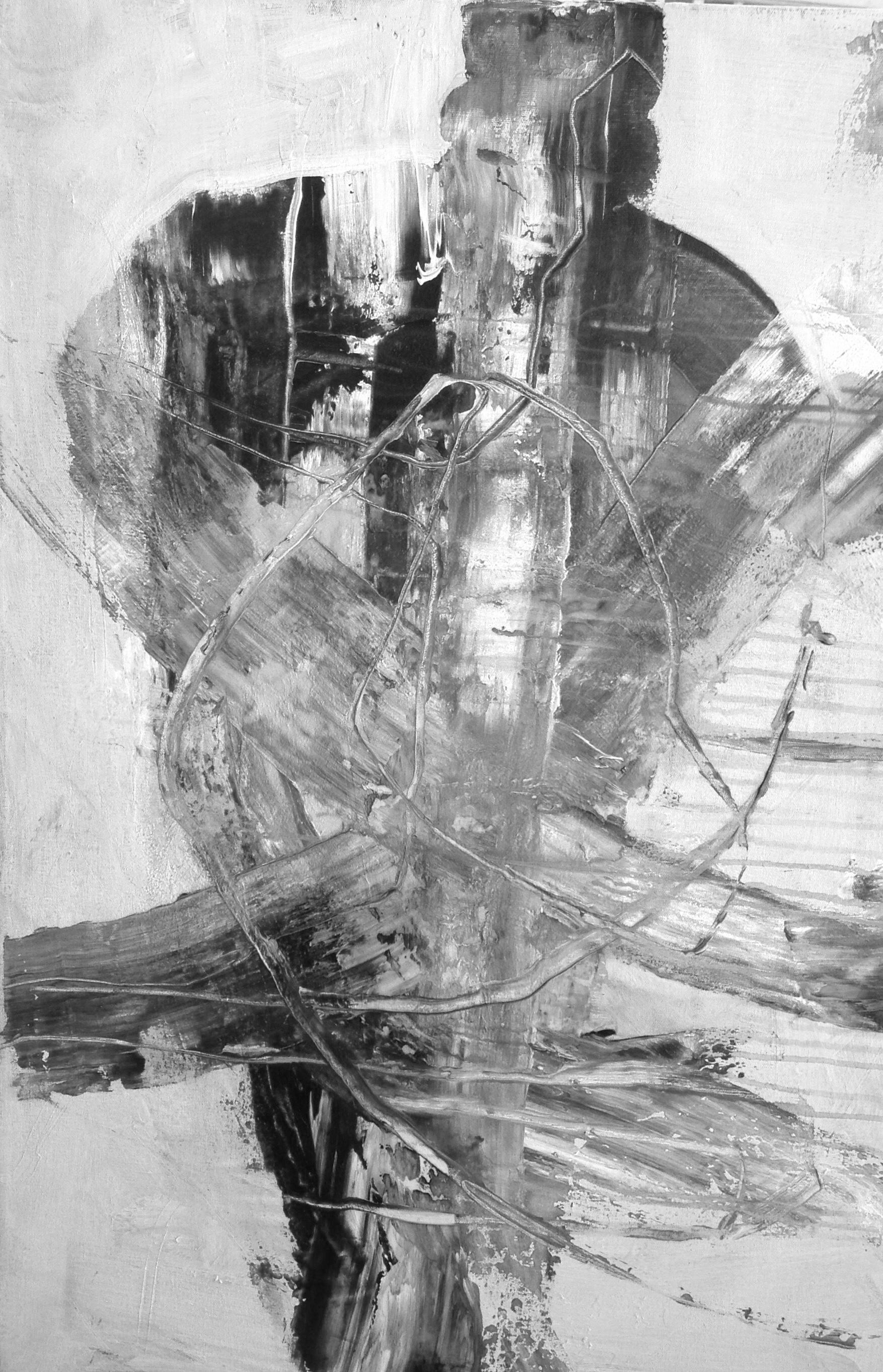 "Breaking through the wall (In memory of Bernie Custis) Acrylic - 24""x36"" SOLD"